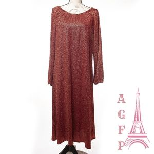Lularoe elegant Eve red long sleeves maxi dress